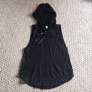 Under Armour black hoody muscle mesh tank shirt